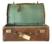 Vintage Suitcase, Open — Stock Photo