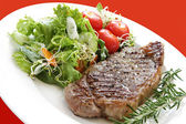 Steak and Salad — Stock Photo