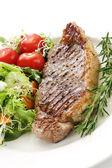 Steak and Salad — Stock Photo