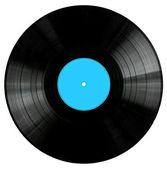Vinyl Record with BlueLabel — Stock Photo