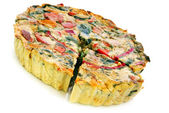Quiche de vegetal — Foto de Stock