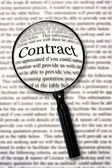 Check that Contract — Stock Photo
