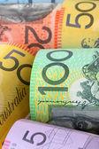 Australijski pieniądze tło — Zdjęcie stockowe