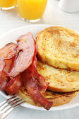 French Toast with Bacon — Stock Photo
