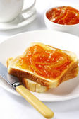 Marmalade on Toast — Stock Photo