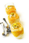 Mango Passionfruit Mousse — Stock Photo