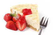 Cheesecake with Strawberries — Stock Photo