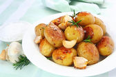 Roasted Garlic Potatoes — Stock Photo