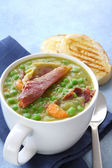 Pea and Ham Soup — Stock Photo