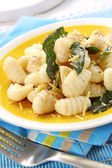 Potato Gnocchi with Sage Butter — Stock Photo