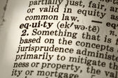 Definition of Equity — Stockfoto