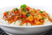 Chicken Curry and Rice — Stockfoto
