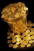 Bucket of Money — Stock Photo