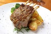 Lamb Dinner — Stock Photo