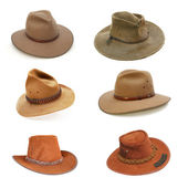 Australian bush hats — Stock Photo