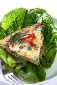 Spinach Frittata — Stock Photo