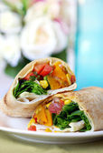 Vegetable Wrap — Stock Photo