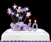 60th Cake — Stock Photo