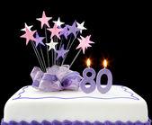 Bolo de 80 — Foto Stock