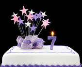Number 7 Cake — Stock Photo