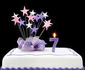 Number 7 Cake — Stock Photo