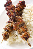 Chicken Kebabs — Stock Photo