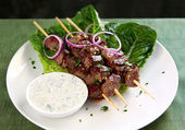Lamb Kebabs — Stock Photo