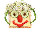 Sandwich Face — Stock Photo
