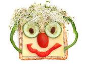 Sandwich Face — Stock fotografie