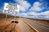 Outback Road Sign — Stock Photo