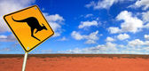 Kangaroo Road Sign — Stock Photo