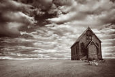 Abandoned Desert Church — Stock Photo