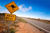 Outback Kangaroo Sign — Stock Photo