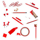 Red Office Supplies — Stock Photo
