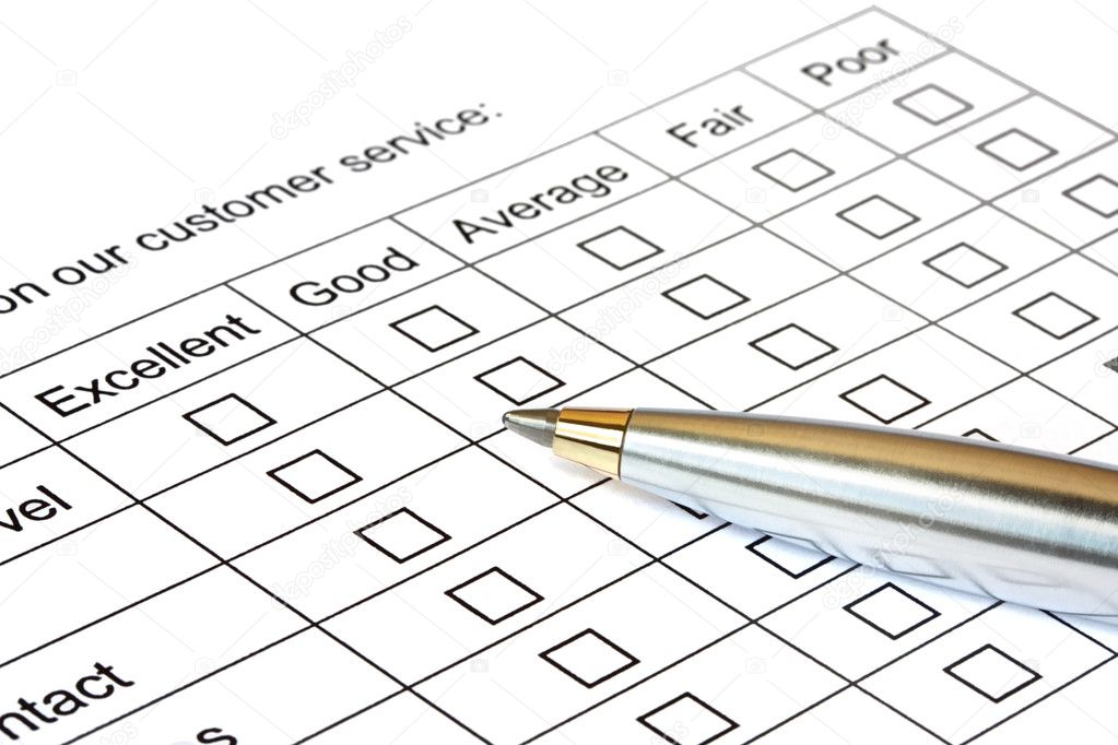 Pen on customer service rating.   — Stock Photo #5526094