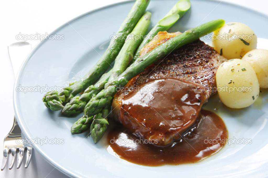 Steak dinner stock photo robynmac 5526126 for 5 mother sauces of french cuisine