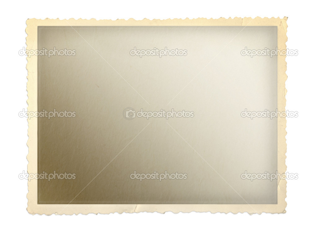 Vintage photo frame with scalloped edge. — Stock Photo #5526524