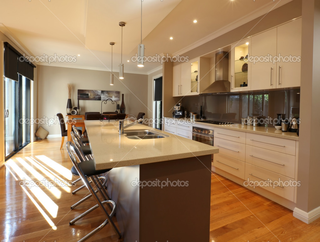 Modern Kitchen And Modern Kitchen Stock Photo Ac Robynmac 5528723