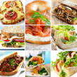 Stock Photo: Sandwich Collage