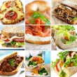 Sandwich Collage — Stock Photo