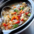 Slow-Cooked Vegetable Soup — Stock Photo #5530759