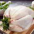 Preparing Chicken for Roasting — Stock Photo