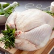 Stock Photo: Preparing Chicken for Roasting