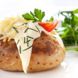 Baked Potato with Salad — Stock Photo