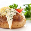 Baked Potato with Salad — Stock Photo #5530855