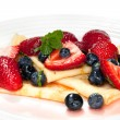 Berry Crepes — Stock Photo