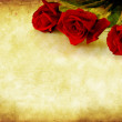 Grunge Red Roses — Stock Photo