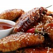 Chili Chicken Wings — Stock Photo