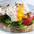 Poached Egg on Toast — Stock Photo #5531989