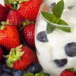 Yogurt with Berries — Stock Photo